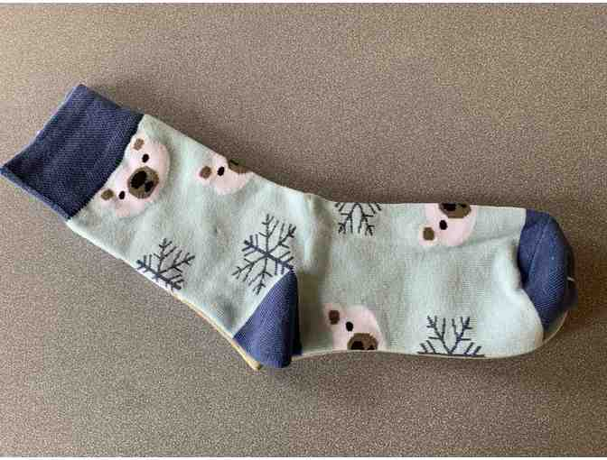 Polar Bear Socks - sky background - Photo 1