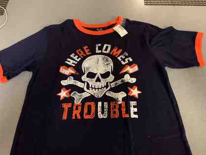 Here Comes Trouble Boy's XL Tee