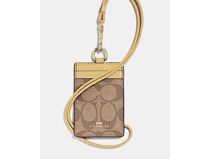 COACH ID LANYARD IN SIGNATURE CANVAS - Photo 1