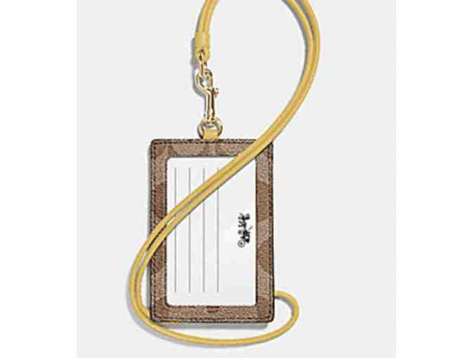 COACH ID LANYARD IN SIGNATURE CANVAS - Photo 2