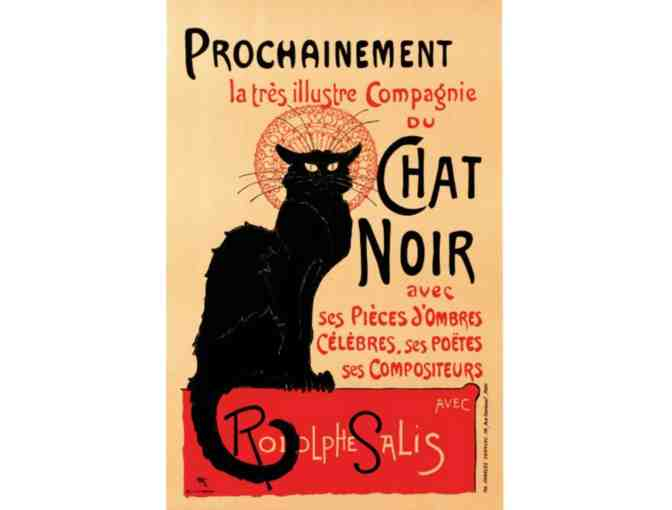 """Chat Noir"" hand pulled lithograph - Photo 1"