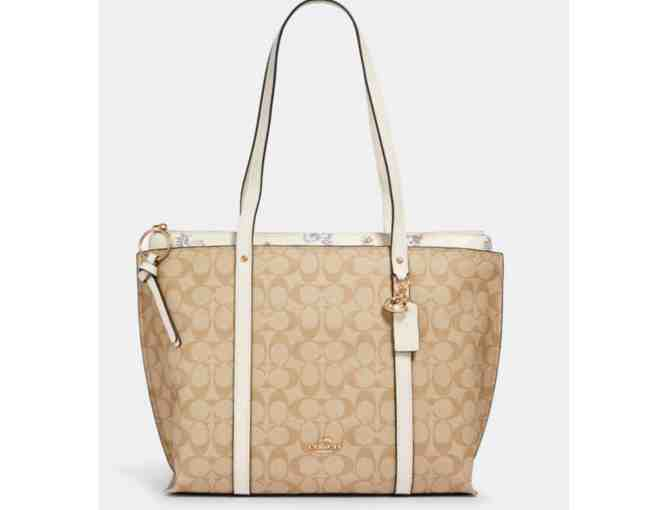 Coach May Tote In Signature Canvas With Dandelion Floral Print - Photo 1