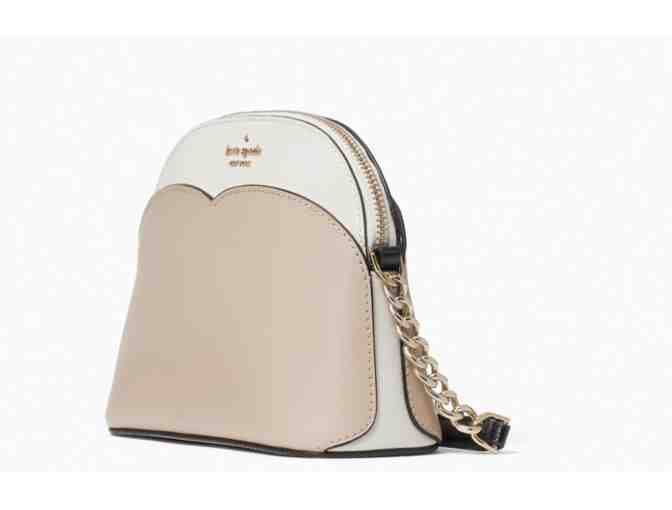 Kate Spade payton small dome crossbody in warm beige multi - Photo 2