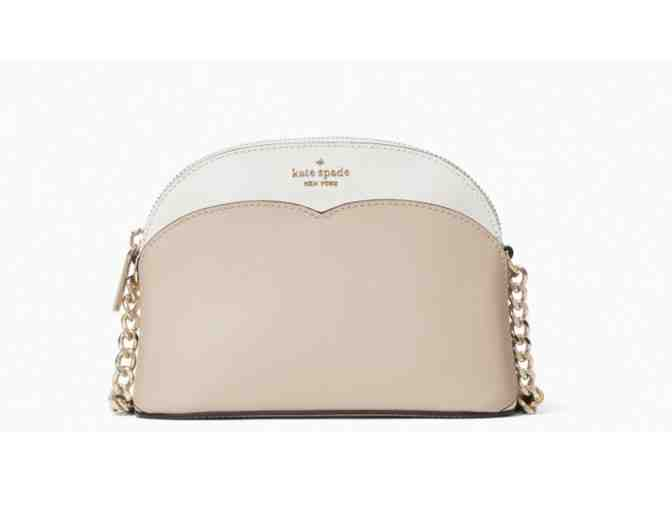 Kate Spade payton small dome crossbody in warm beige multi - Photo 1