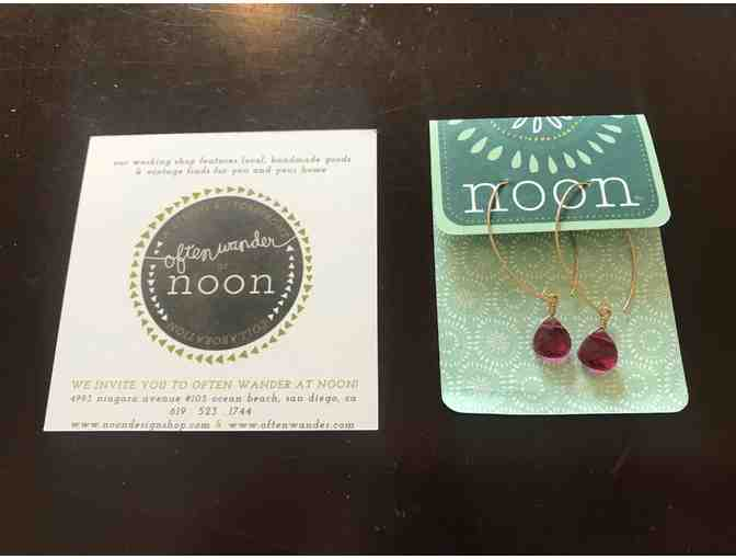 Often Wander @ Noon - Ruby GF Earrings
