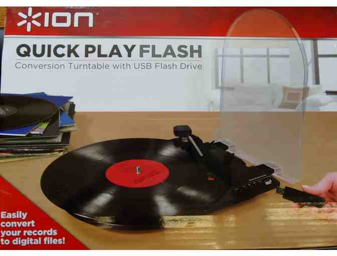 Convert your records! ION Audio Quick Play Conversion Turntable w/USB Flash Drive - Photo 2