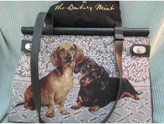 Dachshund Embroidered Handbag by The Danbury Mint
