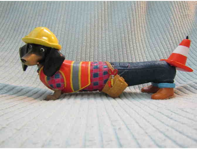 Hot Diggity! Construction Worker Dachshund