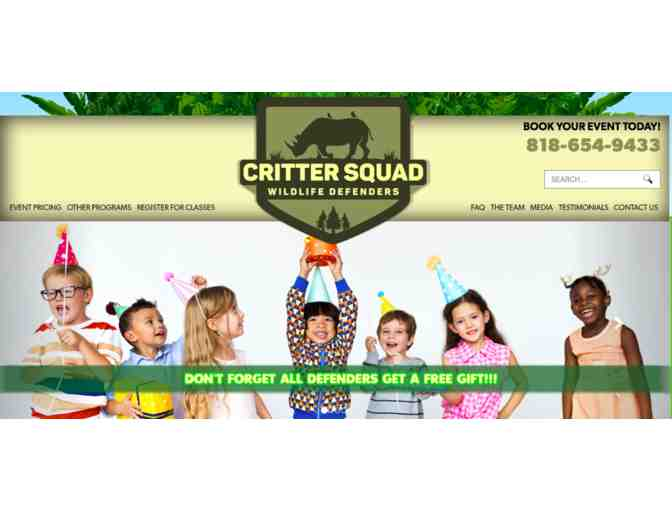 Critter Squad Wildlife Defenders - Mobile Petting Zoo