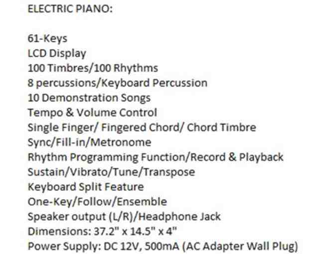 Best Choice Products-Brand new 61-key electronic keyboard with X stand - Photo 2