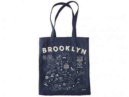 Brooklyn Denim Tote and Zipped Pouch