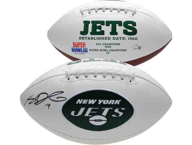 2018 New York Jets Team Signed Football - Photo 3