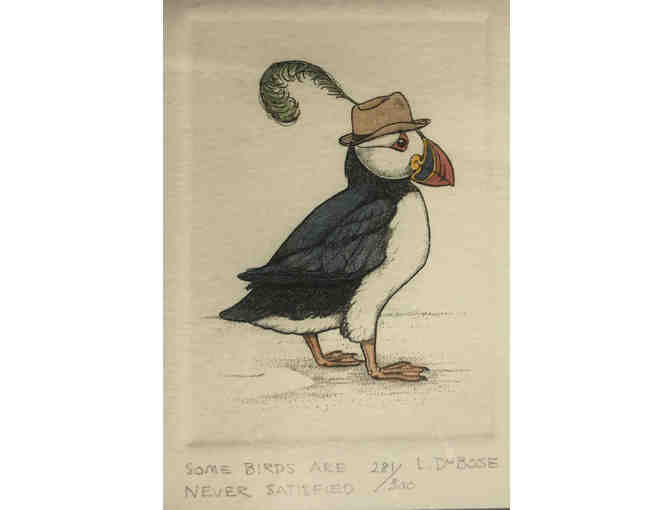 119- Song Birds Are Never Satisfied - Two puffin sketches by Lucius DuBose - Photo 2