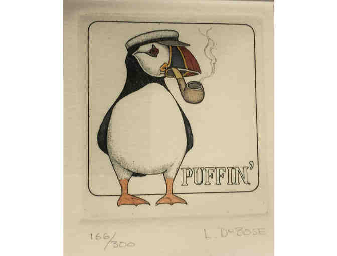 119- Song Birds Are Never Satisfied - Two puffin sketches by Lucius DuBose - Photo 3