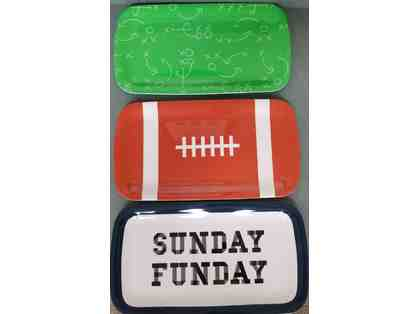3 Fun Football Serving Trays