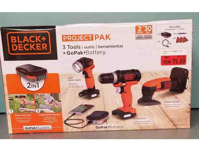 Black and Decker 3 Tools + Go Pak Battery System Set - Photo 1