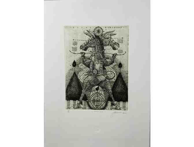 "Oleh Denysenko: ""Choice"" Etching 24/50 - Photo 1"