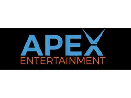 $25 Apex Gift Card, 2 Games of Laser Tag, and a 60 Minute Play Card
