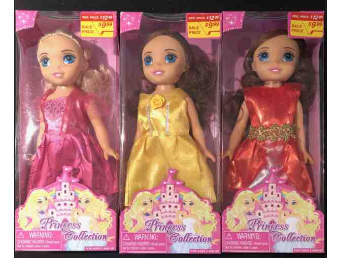 Set of 3 Princess Collection dolls