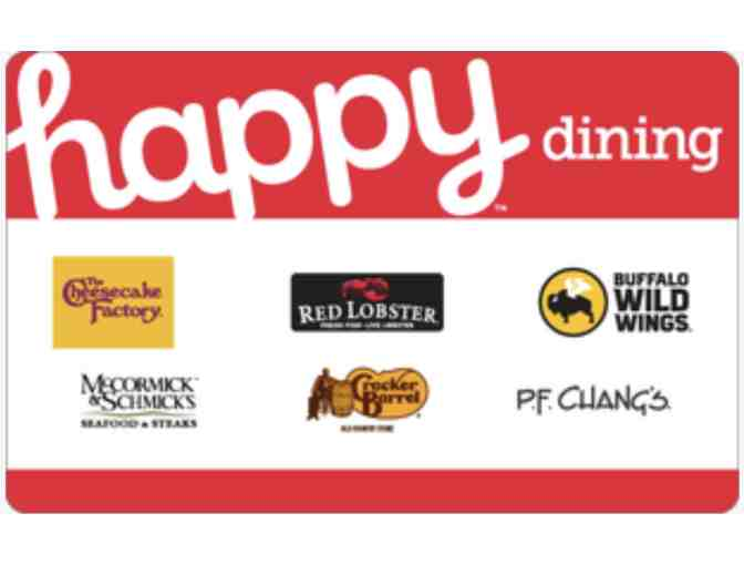 $25 Happy Dining Gift Card - Cheesecake Factory, Cracker Barrel, PF Changs & More
