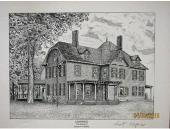 Limited Edition Etchings 'Homes of United States Presidents'
