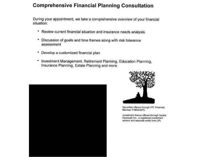 Customized Financial Planning Session