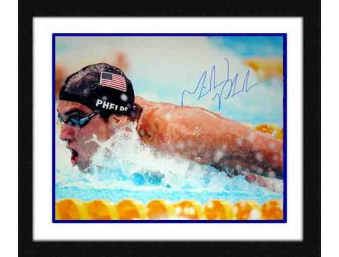 Michael Phelps Hand-Signed & Framed '100m Butterfly - Beijing 2008' 16x20 Photograph