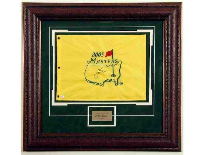 Jack Nicklaus Hand Signed Masters Pin Flag