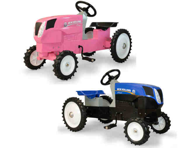 Collectible Pink New Holland Pedal Tractor