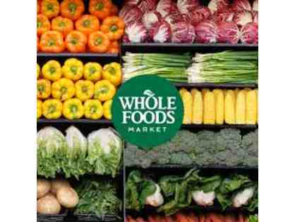 $100 Gift Certificate for Whole Foods