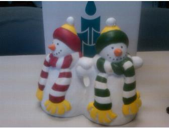 Partylite - Snowmen Pillar Holder #P0476 - Photo 1