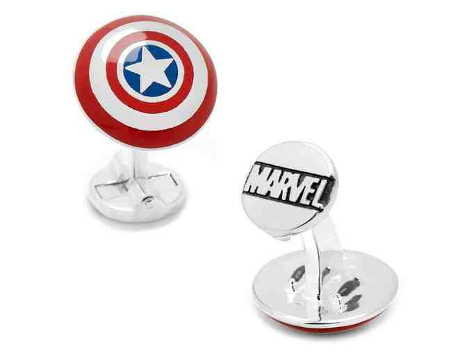 3D Captain America Shield Cufflinks - Photo 1