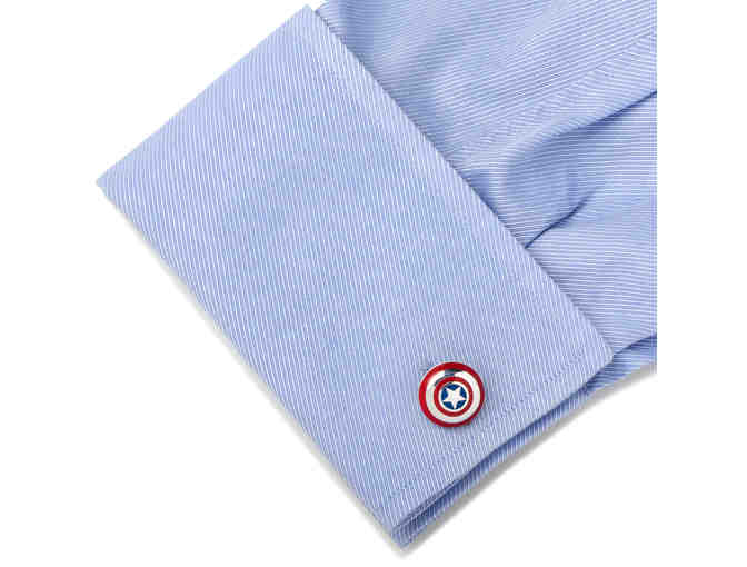 3D Captain America Shield Cufflinks - Photo 2