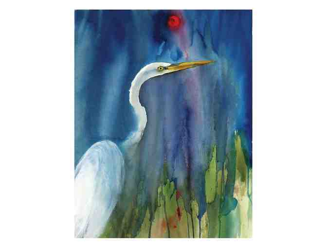Great Egret Blue -- Limited Edition Print
