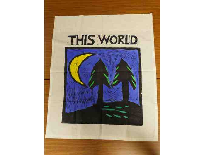Hand-painted 'This World' Banner from Bread and Puppet Press