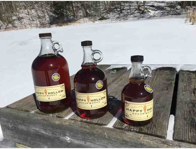Happy Hollow 1L Bottle Organic Maple Syrup