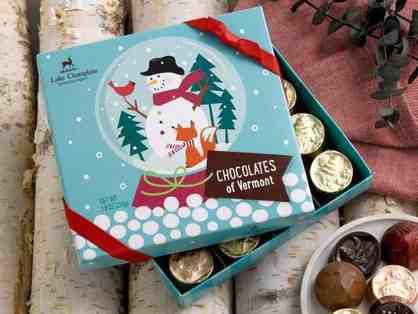 Lake Champlain Holiday Chocolate of Vermont and Holiday Truffle Spruce Tree Gift Boxes