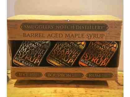 Barrel Aged Maple Syrup from Smugglers' Notch Distillery