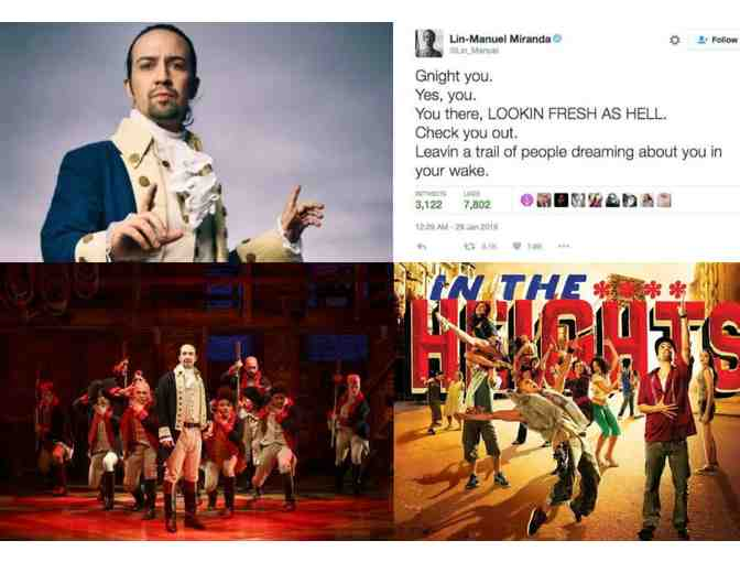 The Lin-Manuel Miranda Experience: HAMILTON tickets, signed IN THE HEIGHTS vinyl and more!
