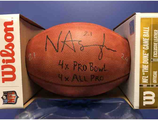 Signed football from NFL All-Pro Nnamdi Asomugha