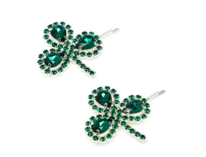 Clover crystal-embellished hair slides by Art School - Photo 1