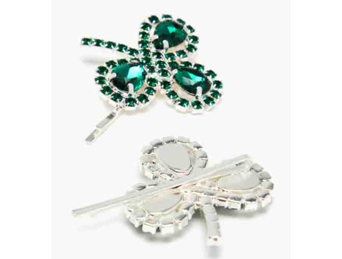 Clover crystal-embellished hair slides by Art School - Photo 2