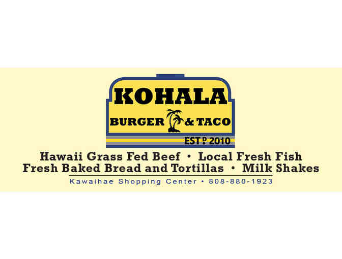 Two (2) $10 Gift Cards to Kohala Burger & Taco