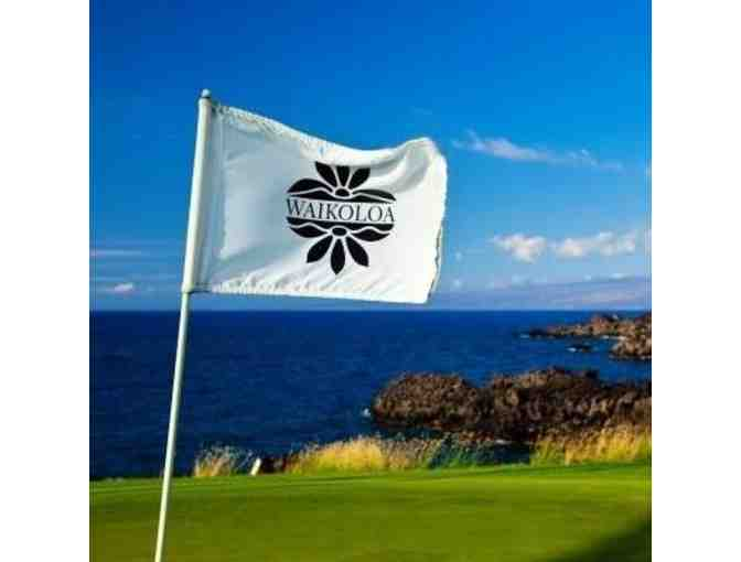 1 round of golf for 1 player at Waikoloa Beach Course or King's Course