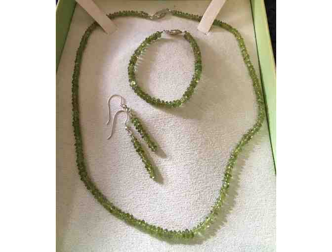 Peridot Bead Necklace in Sterling Silver matching set by Ross & Simons