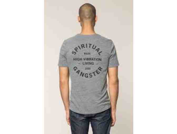 Spiritual Gangster Men's Anahata Tee - Heather Grey - Medium - Photo 1