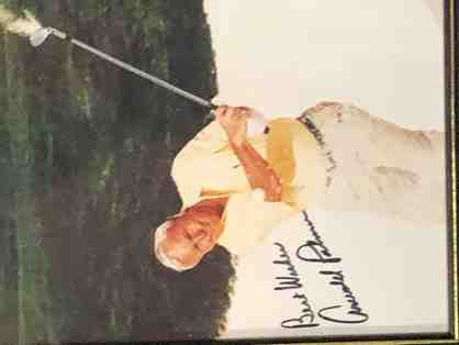Signed Arnold Palmer Photo