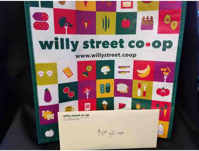 $50 gift card and tote bag from Willy Street Co-op