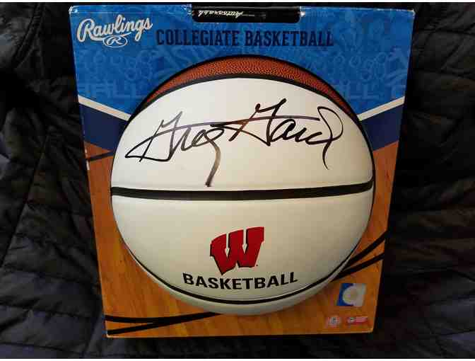 Badger basketball signed by Coach Greg Gard