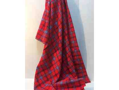 Masai plaid blanket